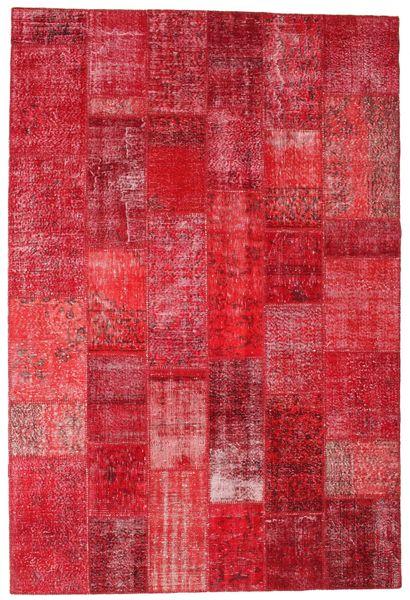 Patchwork Matto 201X300 Moderni Käsinsolmittu Punainen/Ruoste (Villa, Turkki)