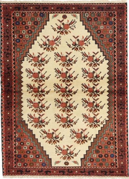 Saveh Matto 105X147 Itämainen Käsinsolmittu Tummanruskea/Beige (Villa, Persia/Iran)