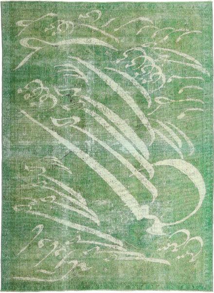 Colored Vintage Matta 210X288 Äkta Modern Handknuten Olivgrön/Pastellgrön (Ull, Persien/Iran)