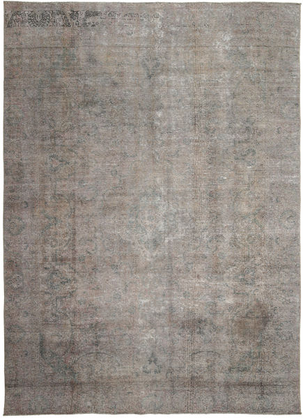 Colored Vintage Rug 276X390 Authentic  Modern Handknotted Light Grey/Dark Grey Large (Wool, Persia/Iran)