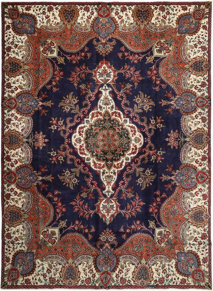 Tabriz Patina Teppe 283X393 Ekte Orientalsk Håndknyttet Mørk Lilla/Mørk Rød Stort (Ull, Persia/Iran)