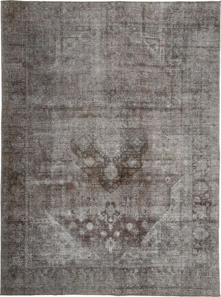Colored Vintage Rug 283X380 Authentic  Modern Handknotted Dark Grey/Light Grey Large (Wool, Persia/Iran)