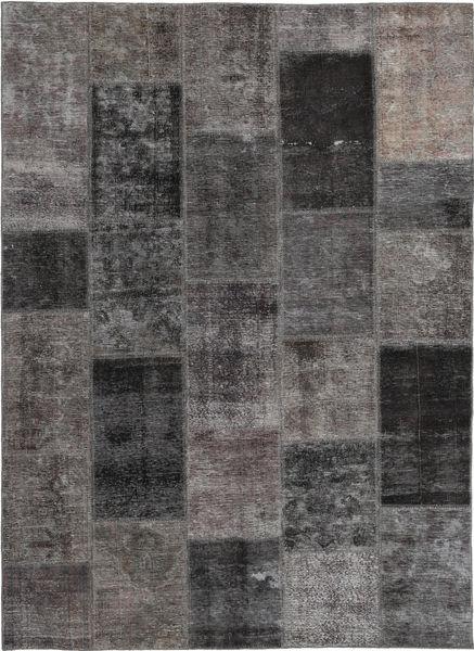 Patchwork Rug 165X237 Authentic  Modern Handknotted Dark Grey/Brown (Wool, Persia/Iran)