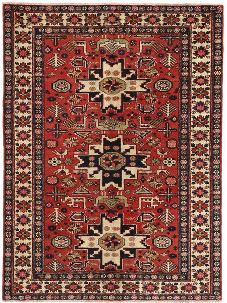 Gharajeh Tapis 112X153 D'orient Fait Main Rouge Foncé/Marron Clair (Laine, Perse/Iran)