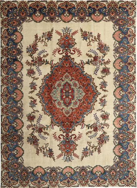 Tabriz Patina Matto 246X339 Itämainen Käsinsolmittu Tummanharmaa/Vaaleanruskea (Villa, Persia/Iran)