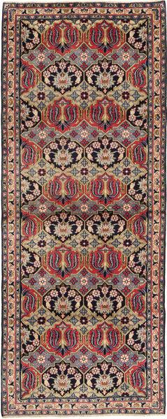 Najafabad Teppich  112X293 Echter Orientalischer Handgeknüpfter Läufer Hellbraun/Schwartz (Wolle, Persien/Iran)