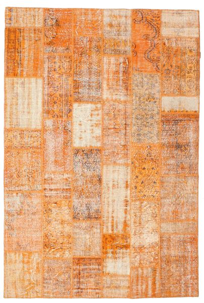 Patchwork Rug 201X300 Authentic  Modern Handknotted Light Brown/Dark Beige (Wool, Turkey)