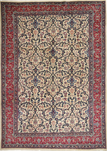 Mashad Rug 250X347 Authentic  Oriental Handknotted Dark Brown/Light Grey Large (Wool, Persia/Iran)