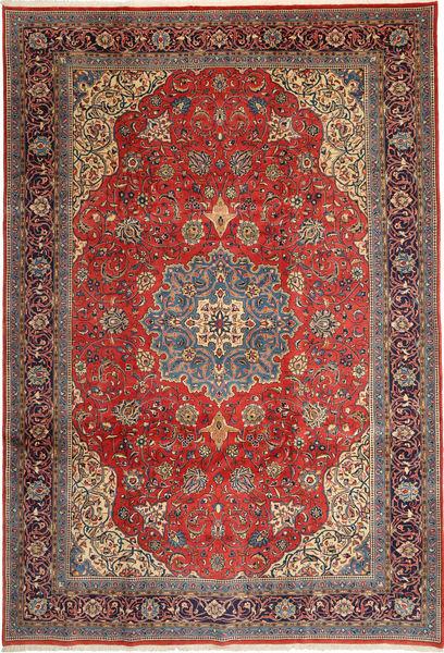 Sarough Vloerkleed 238X350 Echt Oosters Handgeknoopt Lichtbruin/Roestkleur (Wol, Perzië/Iran)