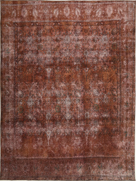 Colored Vintage Rug 283X381 Authentic  Modern Handknotted Light Brown/Dark Red Large (Wool, Persia/Iran)