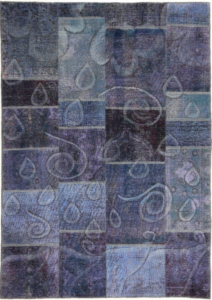 Patchwork Rug 152X220 Authentic  Modern Handknotted Dark Purple/Light Purple (Wool, Persia/Iran)