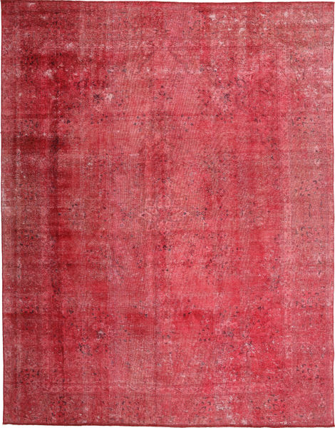 Colored Vintage Rug 289X372 Authentic  Modern Handknotted Rust Red/Crimson Red/Pink Large (Wool, Persia/Iran)