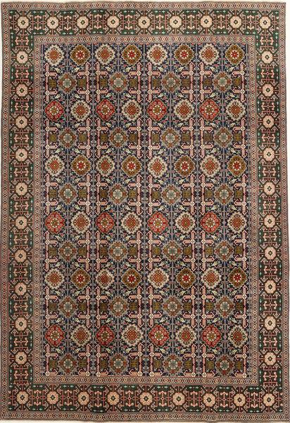 Varamin Patina Teppe 200X287 Ekte Orientalsk Håndknyttet Lysbrun/Mørk Grå (Ull, Persia/Iran)