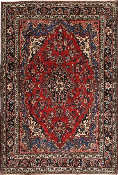 Hamadan Patina Matto 207X312 Itämainen Käsinsolmittu Tummanpunainen/Tummanruskea (Villa, Persia/Iran)