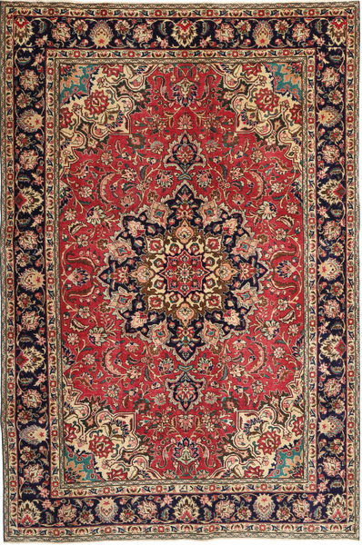 Tabriz Patina Rug 190X295 Authentic  Oriental Handknotted Dark Red/Light Brown (Wool, Persia/Iran)