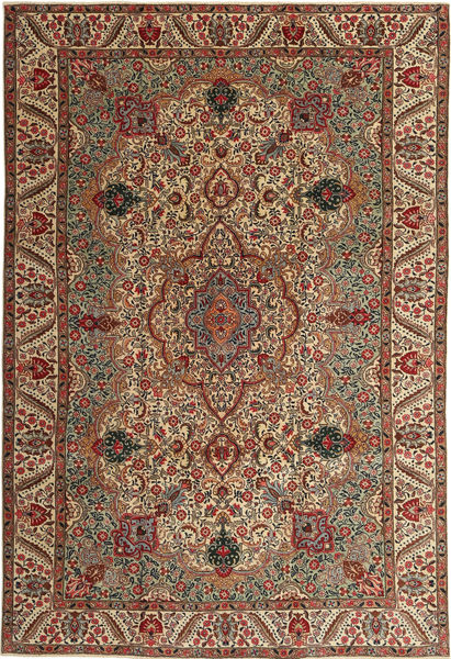 Tabriz Patina Rug 217X323 Authentic  Oriental Handknotted Light Brown/Dark Red (Wool, Persia/Iran)