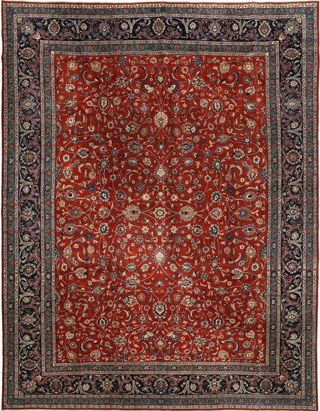 Kashmar Patina Matto 300X395 Itämainen Käsinsolmittu Tummanpunainen/Vaaleanruskea Isot (Villa, Persia/Iran)