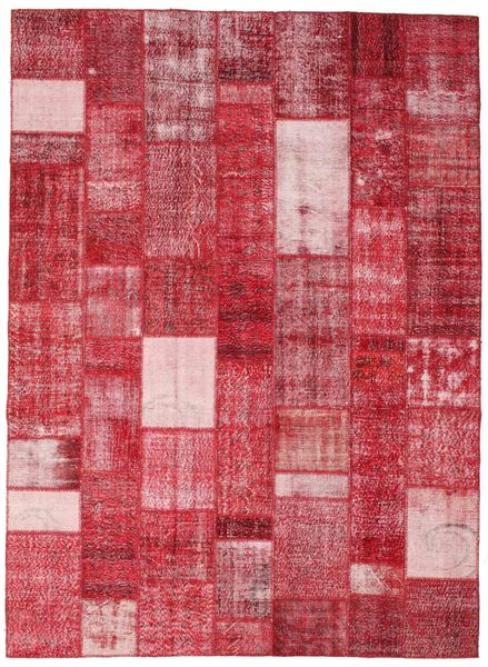 Patchwork Rug 254X350 Authentic  Modern Handknotted Crimson Red/Pink Large (Wool, Turkey)