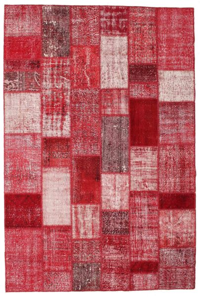 Patchwork Rug 201X300 Authentic  Modern Handknotted Crimson Red/Pink (Wool, Turkey)