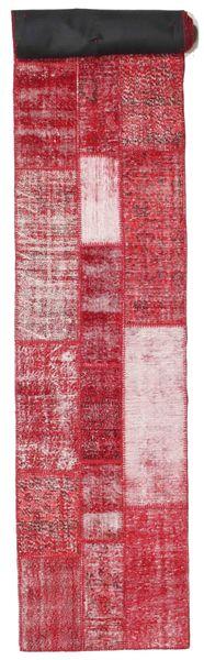 Patchwork Rug 82X600 Authentic  Modern Handknotted Hallway Runner  Crimson Red/Pink (Wool, Turkey)