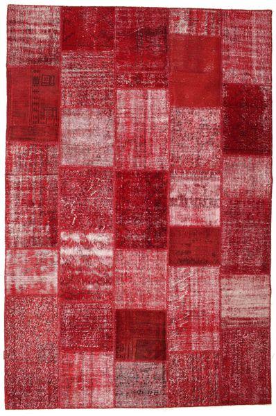 パッチワーク 絨毯 201X305 モダン 手織り 赤/錆色 (ウール, トルコ)