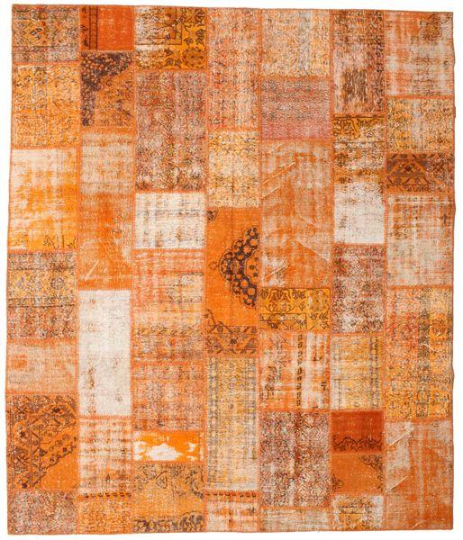 Patchwork Rug 253X298 Authentic  Modern Handknotted Orange/Light Brown Large (Wool, Turkey)