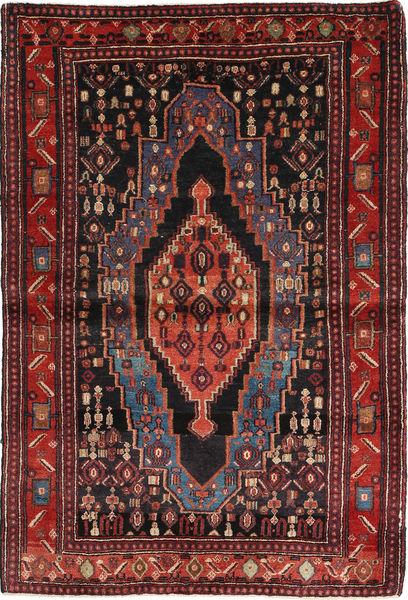 Senneh Tæppe 115X174 Ægte Orientalsk Håndknyttet Mørkerød/Sort (Uld, Persien/Iran)