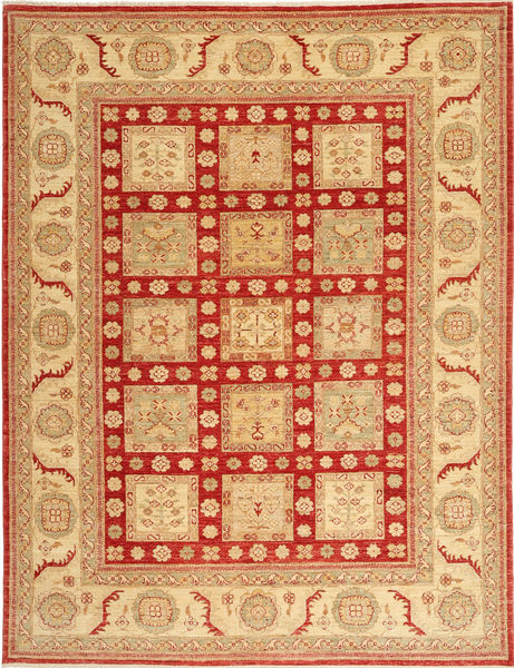 Ziegler Alfombra 205X282 Oriental Hecha A Mano Marrón Claro/Óxido/Roja (Lana, Pakistán)