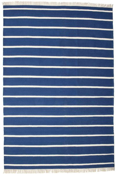 Dorri Stripe - Ciemnoniebieski Dywan 200X300 Nowoczesny Tkany Ręcznie Ciemnoniebieski/Niebieski (Wełna, Indie)