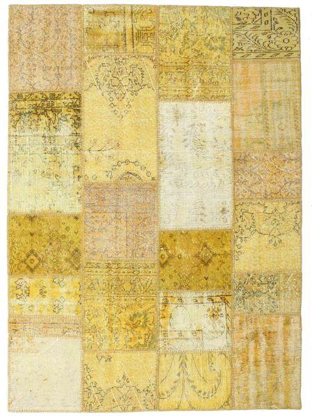 Patchwork Rug 160X222 Authentic  Modern Handknotted Dark Beige/Yellow/Beige (Wool, Turkey)