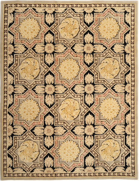 China 90 Line Rug 278X365 Authentic  Oriental Handknotted Light Brown/Dark Beige Large (Wool, China)