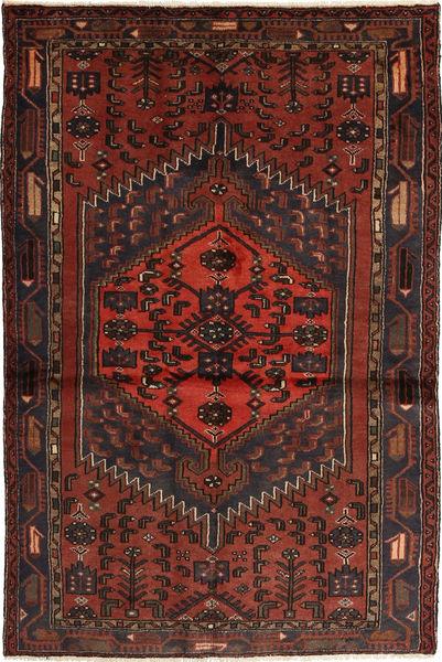 Hamadan Matto 128X198 Itämainen Käsinsolmittu Tummanpunainen/Tummanruskea (Villa, Persia/Iran)