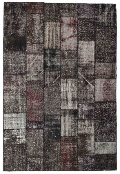 Patchwork Rug 203X302 Authentic  Modern Handknotted Dark Grey/Black (Wool, Turkey)