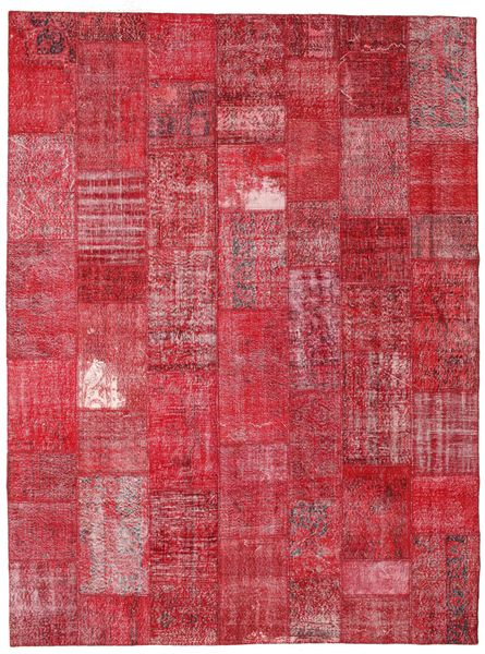 Patchwork Rug 273X366 Authentic  Modern Handknotted Crimson Red/Rust Red Large (Wool, Turkey)