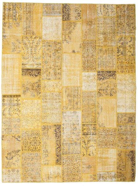 Patchwork Rug 273X366 Authentic  Modern Handknotted Yellow/Light Brown Large (Wool, Turkey)