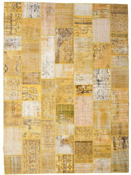 Patchwork Rug 272X371 Authentic  Modern Handknotted Light Brown/Dark Beige Large (Wool, Turkey)