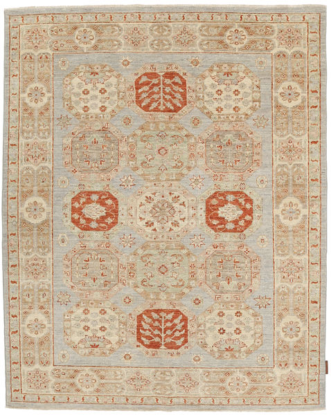 Ziegler Rug 152X187 Authentic  Oriental Handknotted Light Grey/Light Brown (Wool, Pakistan)