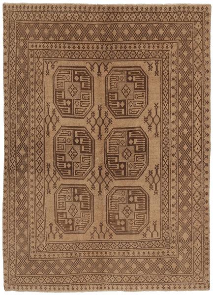 Afgan Dywan 139X191 Orientalny Tkany Ręcznie Brązowy/Ciemnobrązowy (Wełna, Afganistan)