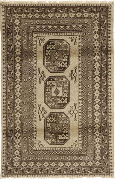 Afghan Natural Matto 118X187 Itämainen Käsinsolmittu Vaaleanruskea/Ruskea/Tummanruskea (Villa, Afganistan)