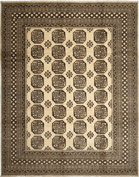 Afghan Natural Matto 283X355 Itämainen Käsinsolmittu Vaaleanruskea/Tummanruskea Isot (Villa, Afganistan)