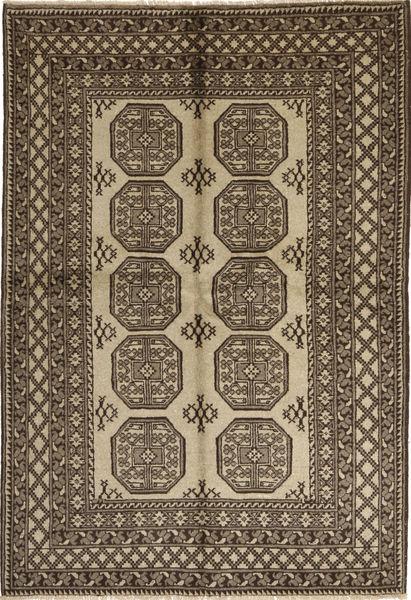 Afgan Natural Dywan 165X243 Orientalny Tkany Ręcznie Ciemnobrązowy/Jasnoszary (Wełna, Afganistan)