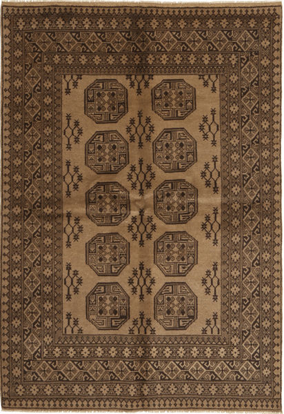 Afghan Natural Rug 162X241 Authentic  Oriental Handknotted Dark Brown/Brown/Light Brown (Wool, Afghanistan)