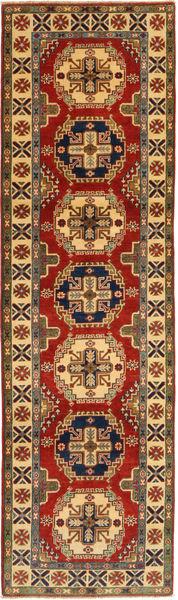 Kazak Matto 84X295 Itämainen Käsinsolmittu Käytävämatto Vaaleanruskea/Tummanpunainen (Villa, Pakistan)