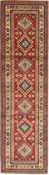 Kazak Matto 80X295 Itämainen Käsinsolmittu Käytävämatto Vaaleanruskea/Tummanpunainen (Villa, Pakistan)