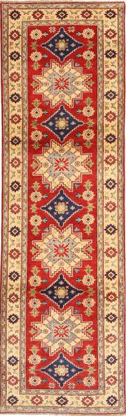 Kazak Matto 82X293 Itämainen Käsinsolmittu Käytävämatto Vaaleanruskea/Tummanbeige (Villa, Pakistan)