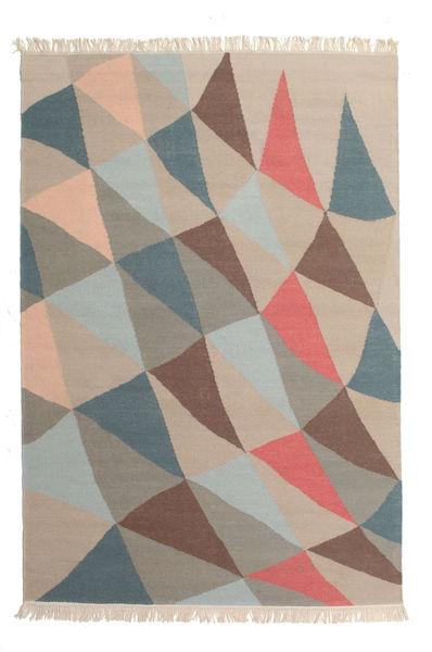 Fly 絨毯 140X200 モダン 手織り 薄茶色/薄い灰色/濃いグレー (ウール, インド)