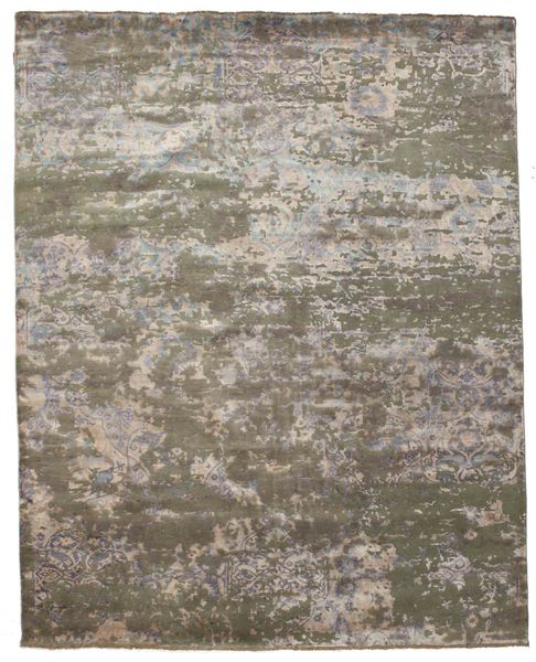 Damask Rug 242X304 Authentic  Modern Handknotted Light Brown/Dark Grey/Light Grey ( India)