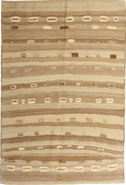 Kelim Moderni Matto 159X235 Moderni Käsinkudottu Vaaleanruskea/Tummanbeige (Villa, Persia/Iran)