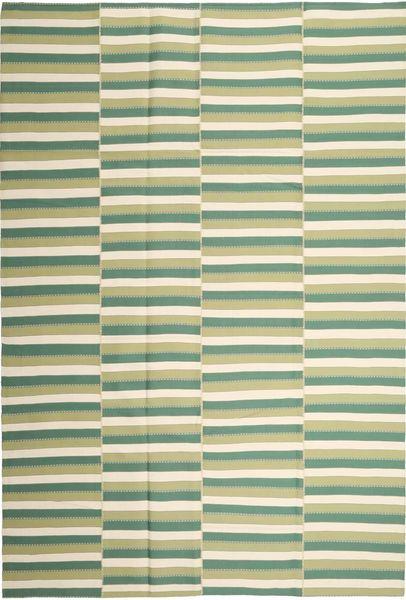 キリム モダン 絨毯 222X328 モダン 手織り ライトグリーン/ベージュ (綿, ペルシャ/イラン)