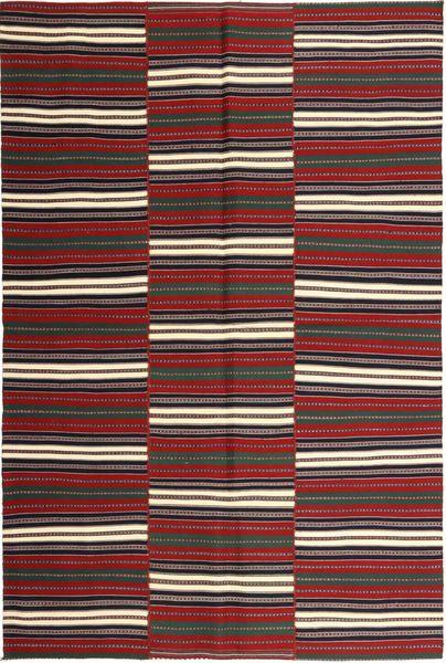 Kelim Moderni Matto 172X259 Moderni Käsinkudottu Tummanpunainen/Musta (Puuvilla, Persia/Iran)